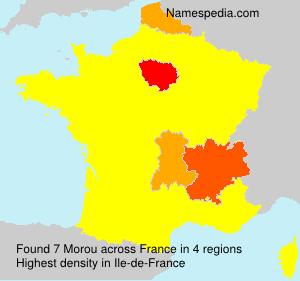 Surname Morou in France