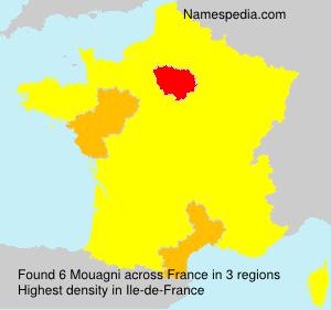 Surname Mouagni in France