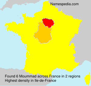 Surname Moummad in France