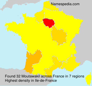 Surname Moutawakil in France