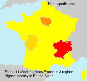 Surname Mozian in France