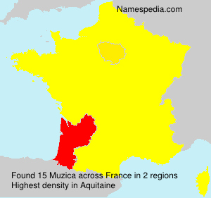 Surname Muzica in France