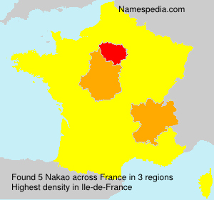 Surname Nakao in France