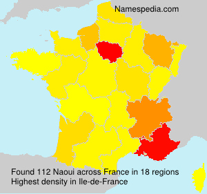 Surname Naoui in France