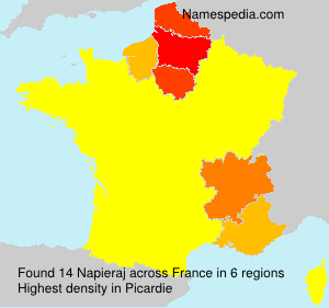 Surname Napieraj in France