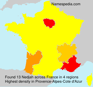 Surname Nedjah in France