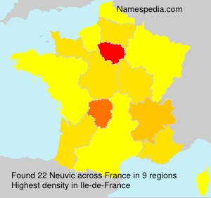 Surname Neuvic in France