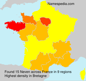 Surname Neven in France