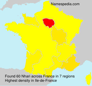 Surname Nhari in France