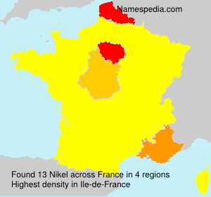 Surname Nikel in France