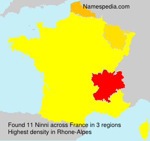 Surname Ninni in France