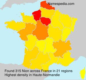 Familiennamen Nion - France