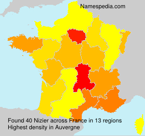 Surname Nizier in France