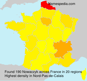 Surname Nowaczyk in France