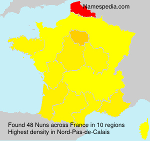 Surname Nuns in France