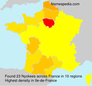 Surname Nyckees in France