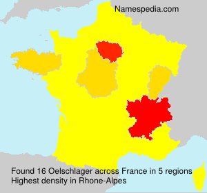 Surname Oelschlager in France