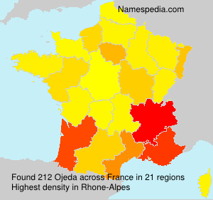 Surname Ojeda in France