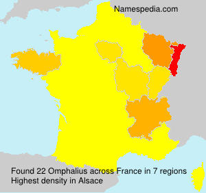 Surname Omphalius in France