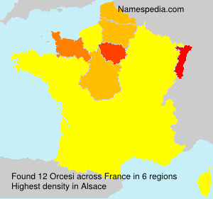 Surname Orcesi in France