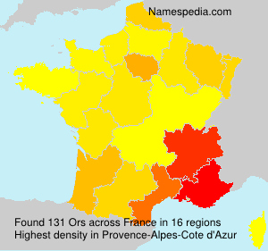 Surname Ors in France