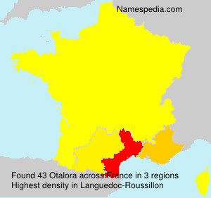 Surname Otalora in France