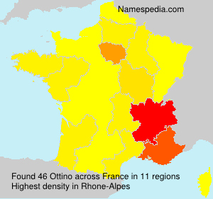 Surname Ottino in France
