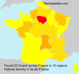 Surname Ouard in France