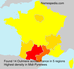 Surname Oulmiere in France