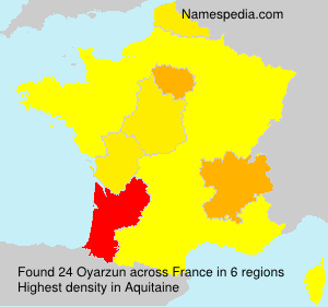 Surname Oyarzun in France