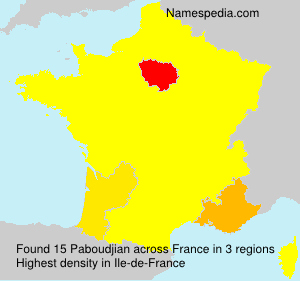 Surname Paboudjian in France