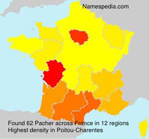 Surname Pacher in France