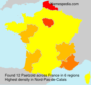 Surname Paetzold in France