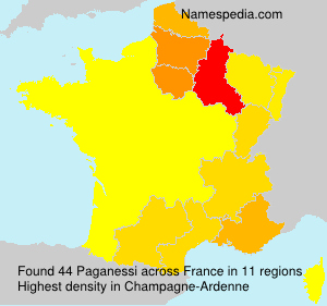 Surname Paganessi in France