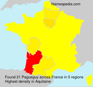 Surname Pagueguy in France