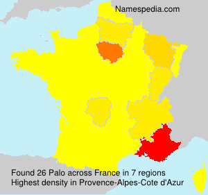 Surname Palo in France