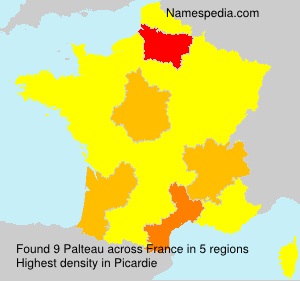 Surname Palteau in France