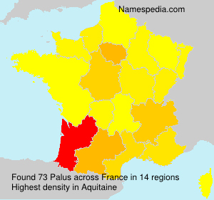 Surname Palus in France