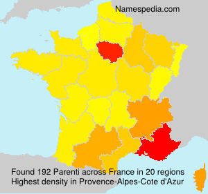 Surname Parenti in France