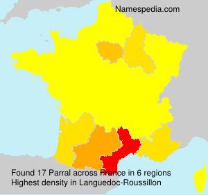 Surname Parral in France