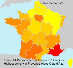 Surname Parsons in France