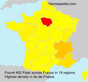 Familiennamen Patel - France