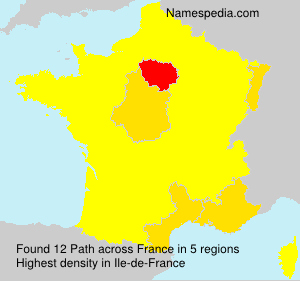 Surname Path in France