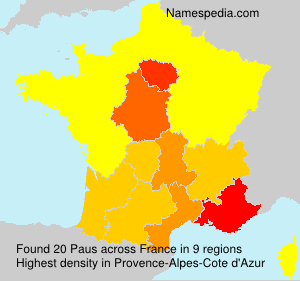 Surname Paus in France