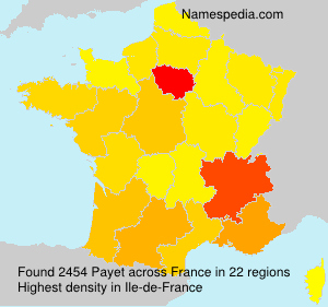 Surname Payet in France
