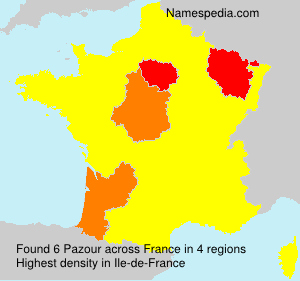Surname Pazour in France