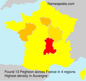 Surname Pegheon in France