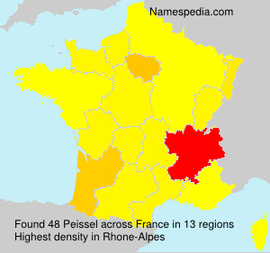 Surname Peissel in France