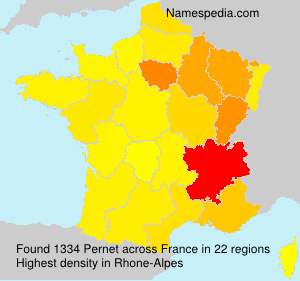 Surname Pernet in France