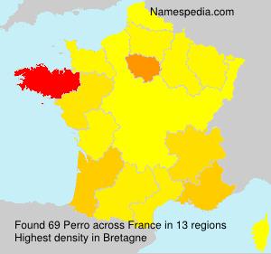 Surname Perro in France